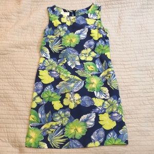 Hawaiian print sleeveless dress